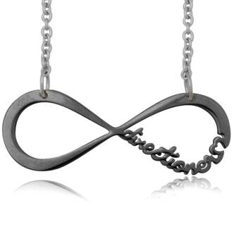 Infinite Directioner Necklace - small black