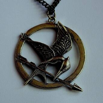 Necklace Hunger Game Ridicule Bird brown