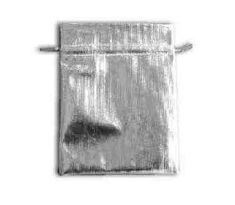 Jewelry Pouch material silver color large