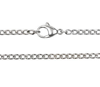 Chain stainless steel curb long 80 cm