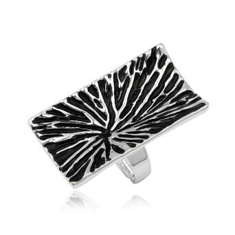 Fashion ring black rectangular