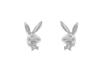 Silver earrings Bunnies