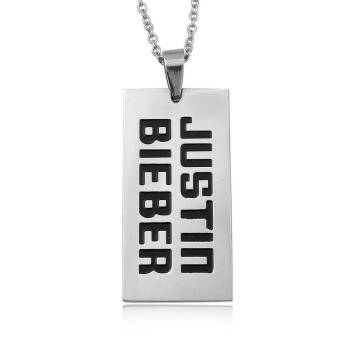 Necklace steel dog tag Justin Bieber