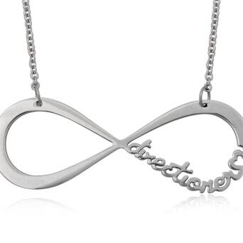 Infinite Directioner Necklace - steel large