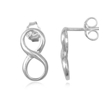 Earrings silver infinitive directioner one direction