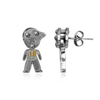 Earrings Steel Boy