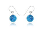 Earrings silver Evil Eye light blue small