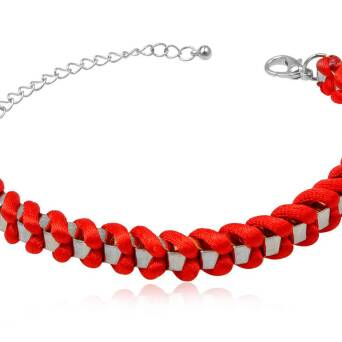 Bracelet fashion Metasilk red