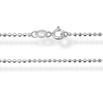 Silver chain diamond cut 45 cm