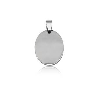 Steel pendant Oval small