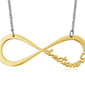 Infinite Directioner Necklace - large gold