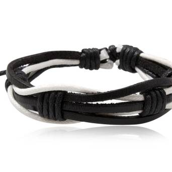 Bracelete black and white