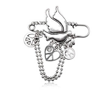 Brooch fashion with Peace symbols