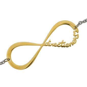 Bracelete Infinitive Directioner one direction gold-plated