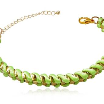 Bracelet fashion Metasilk light green