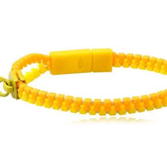 Bracelet fashion Zipper yellow-orange