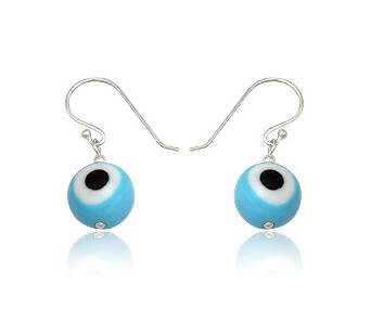Earrings silver Evil Eye small
