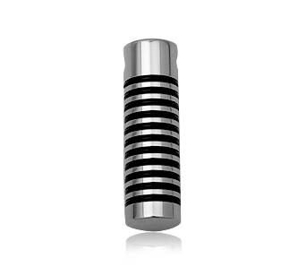 Steel pendant men cylinder