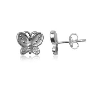 Earrings silver Butterfly