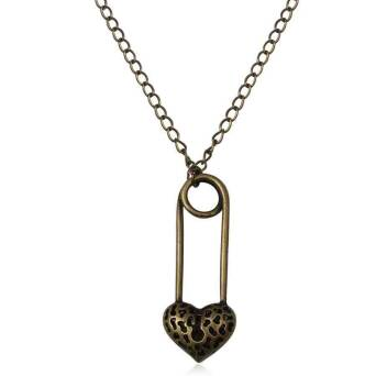 Pendants Padlock Heart with chain