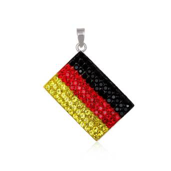Pendant silver and Preciosa Crystal flag Germany
