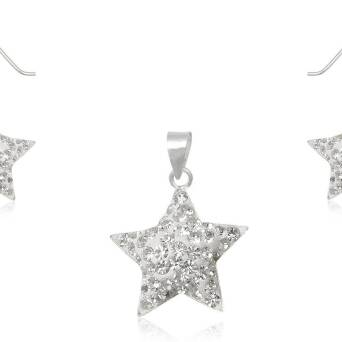 Silver set with Preciosa Crystal STARS