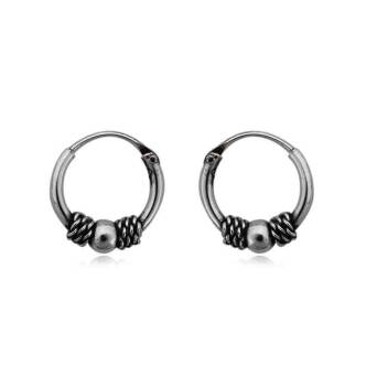 Earring silver celtic hoops 1.0 cm