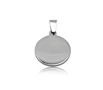 Steel pendant round for engraving
