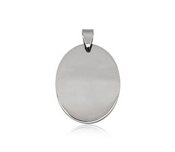Steel pendant Oval for engraving