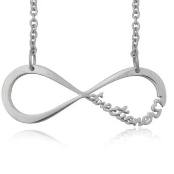 Infinite Directioner Necklace - steel small