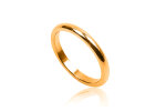 Steel ring for woman goldplated narrow 3 mm