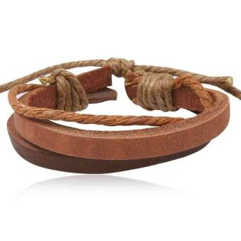 Bracelet leather man brown