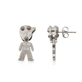 Earrings Steel Boy Baseball Player