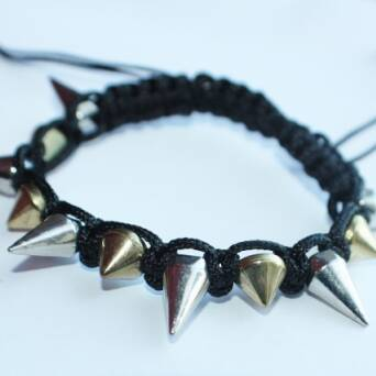 Bracelet spike punk black