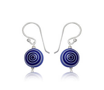 Earrings silver Evil Eye blue