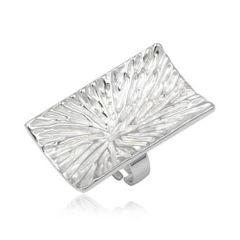 Fashion ring white rectangular