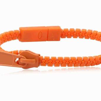 Bracelet fashion Zipper orange