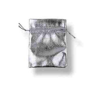 Jewelry Pouch material silver color
