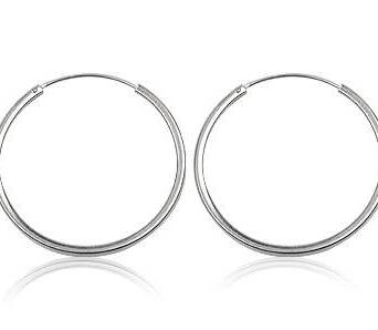 Silver earrings hoops 29 mm