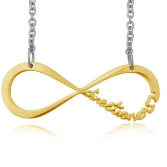 Infinite Directioner Necklace - small gold-plated